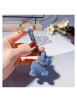 Fylsdes Cartoon Keychain Keychain Lanyard Strap Dog Keychains Women Bag Charms Men Car Key Ring Interior Accessories (Color : A)