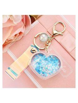 Fylsdes Cartoon Keychain Fashion Love Key Chain car Key Ring for Women Bag Charm Accessories Lovely Cute Key Chain Women Keychain Gift Jewelry Interior Accessories (Color