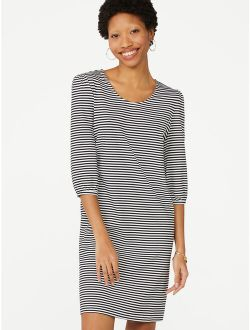 Women's T-shirt Dress With Puff Sleeves