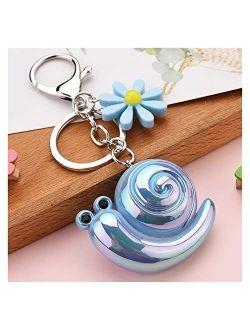 Fylsdes Cartoon Keychain New Acrylic Key Chain Cartoon Flower Animal Keychains Ornaments Women Couple Bags Car Accessories Key Ring (Color : 3)