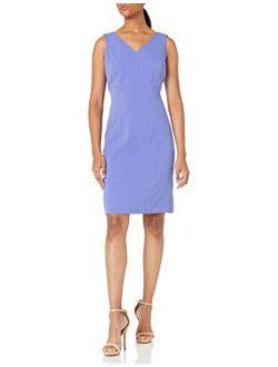 Women's Double V-neck Sheath Dress