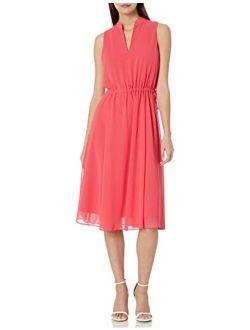 Women's Drawstring Midi Dress