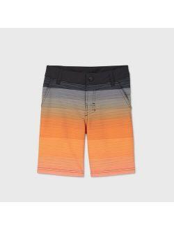 Boys' Gradient Hybrid Swim Trunks - art class™ Orange