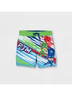 Toddler Boys' PJ Masks Swim Trunks - Green