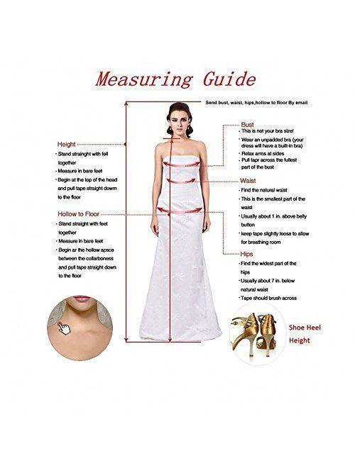 Sweet Bridal Women's Long Sleeve Off Shoulder Split Rhinestone Evening Dress