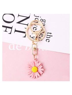 YSDSPTG Keychain New 5 Style Daisy Key Chain Korean Cute Flower Keychain for Women and Men Bags Girl Jewelry Chain Key Ring Wholesale Accessories Interior Accessories (Fa
