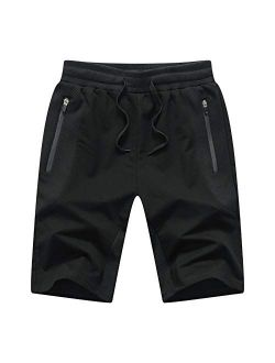 Mens Athletic Shorts With Zip Pockets