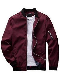 Banana Bucket Men's Jacket Slim Fit Lightweight Softshell Flight Bomber Jacket Coat…
