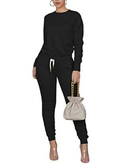 TOPONSKY Women Casual 2 Piece Outfit Long Pant Set Sweatsuits Tracksuits