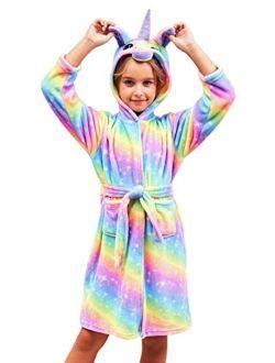 Doctor Unicorn Soft Unicorn Hooded Galaxy Bathrobe - Unicorn Gifts for Girls