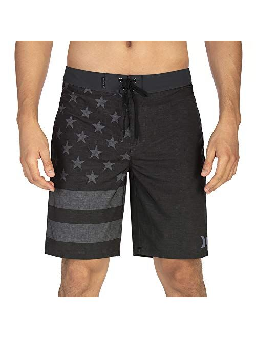 "Hurley Men's Phantom Patriot Cheers USA Flag 20"" Board Shorts"