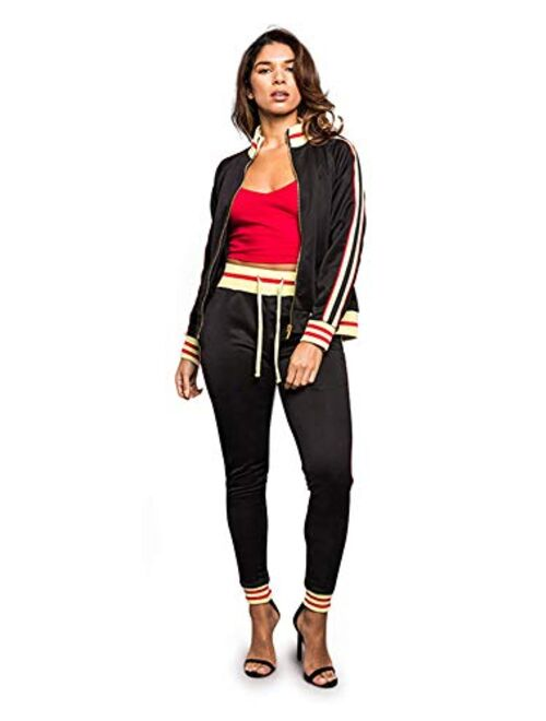 Victorious Women's 2 Piece Tracksuit Set - Long Sleeve Sweatshirts and Sweat Pants