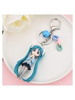 Fangzwl Key Ring Ornaments Cartoon Anime Keychain Cute Bag Pendant Gift for Girlfriend Girl Jewelry Anime Figure car Keychain (Color : 06)