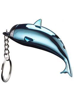 2PCS Dolphin Shape Refillable Butane Cigarette Lighter Key Chain