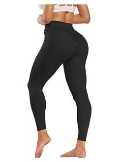 Murandick Women's Ruched Butt Leggings Butt Lifting Workout Booty Yoga Pants High Waist Scrunch Push Up Tights