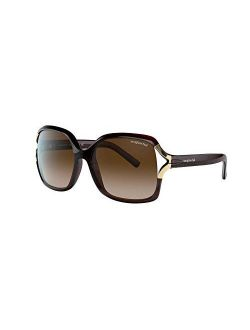 Sunglass Hut Collection Women Sunglasses, Square Shape, Nylon Frame, 58mm, HU2002