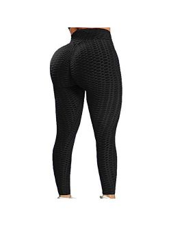 MISS MOLY Ruched Butt Lifting High Waist Textured Yoga Pants Tummy Control Workout Leggings