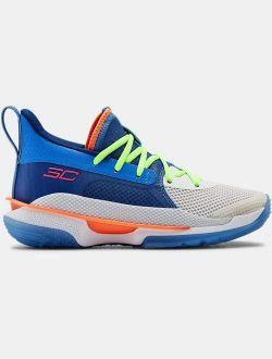Kids' Grade School UA Curry 7 Basketball Shoes