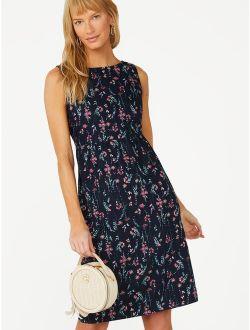 Women's Sleeveless Boatneck Dress