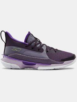 Grade School UA Curry 7 'BAMAZING' Basketball Shoes