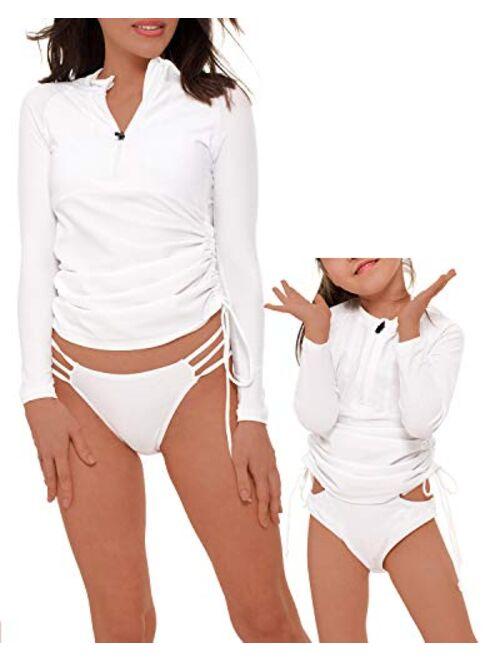 YOLIPULI Mother and Daughter Swimwear Family Matching Swimsuit Womens Rashguard Girls Swimwear(Please Order Seperately)