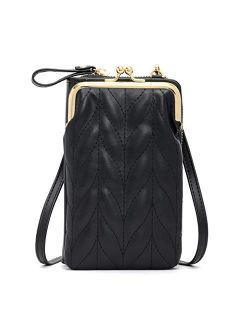 Aeeque Small Crossbody Bag Cell Phone Purse Leather Shoulder Bag for Women