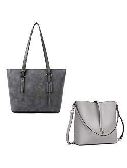 Women Leather Handbags Purses Bundle With Hobo Crossbody Bucket Bags