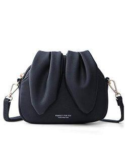 Crossbody Bag For Women Small Shoulder Bag Rabbit Leather Cellphone Purse