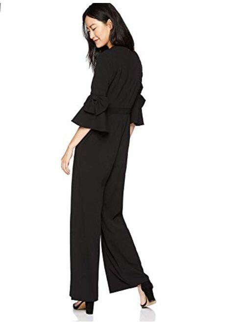 Donna Morgan V Neck  Bell Sleeve Jumpsuit