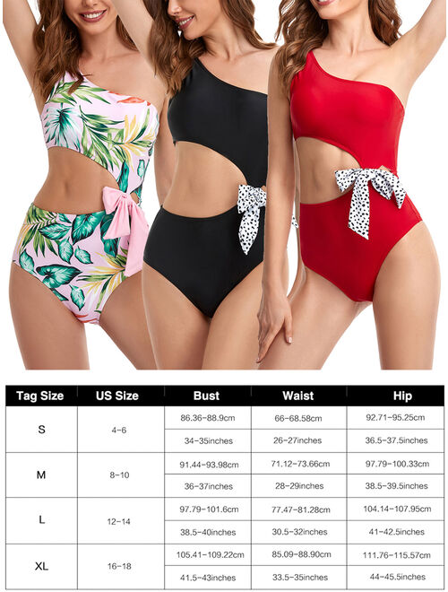 UKAP Family Matching Swimsuit Swimwear Mother Daughter Women Kids Girl One Piece Swimwear Beachwear Swimsuits Floral Bathing Suit Swimming Costumes Push Up Bra Padded Bac