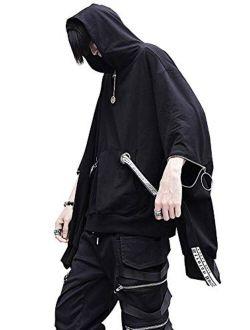 Men's Streetwear Cargo Hoodie With Pocket Long Sleeve Hoodies Pullover