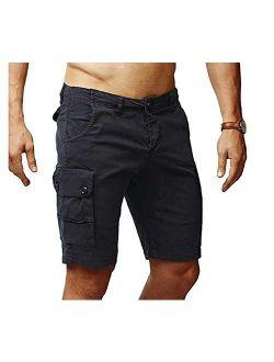 Men's Cargo Shorts Slim Fit Multi-pocket Outdoor Cargo Shorts Cotton