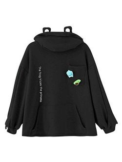 Men's Unisex Frog Hoodie Loose Pullover Zip Up Hooded Top Sweatshirt