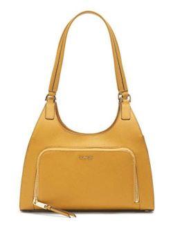 Ava Saffiano Triple Compartment Hobo Shoulder Bag