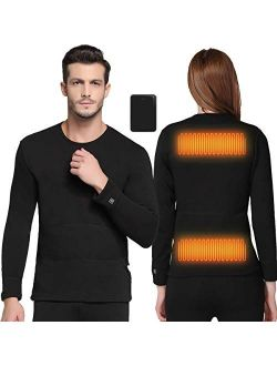 FERNIDA Heated Underwear Electric Insulated Thermal Heating T Shirts (Battery Included)