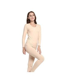 XYXH Thermal Underwear for Women Winter, Thermal Men's Base Layer Long Set, Thermal Pants, Thermal Top, Machine Wash Smooth Breathable Crew Neck - for Running Skiing Hiki