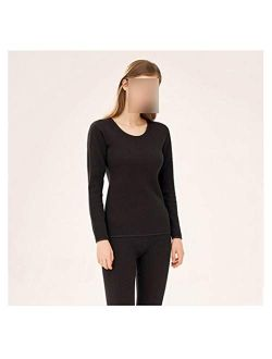 OMING Thermal Underwear Thermal Underwear Women's Suit Thickening and Velvet self-Cultivation Bottoming can not Afford The Ball, no Fading, Warm and Comfortable Underwear