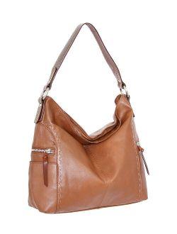 Cognac Leather Kyah Hobo Bag