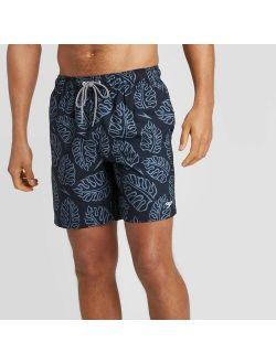 "Men's 8"" Floral Print Volley Swim Shorts - Navy"