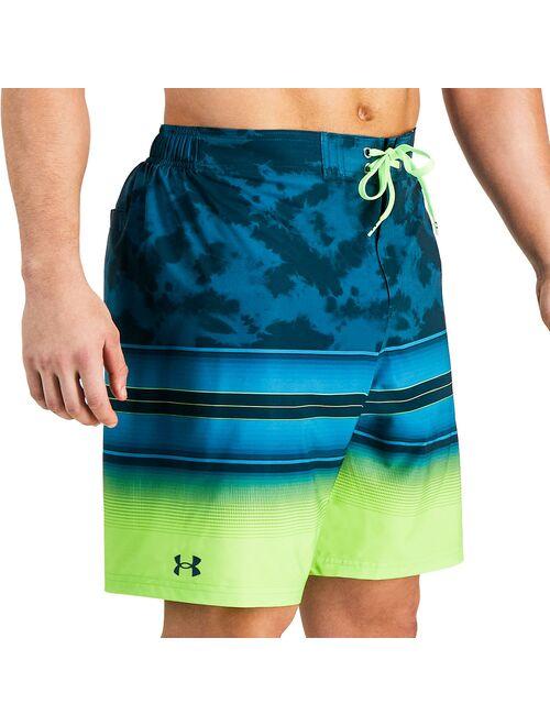 Men's Under Armour Tie-Dye Gradient Striped Swim Shorts