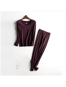 Thermal Underwear Suit plus velvet thickening constant temperature cold-proof autumn clothes long trousers women's winter fashion to keep warm Winter Thermal Underwear (