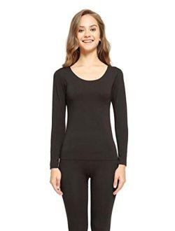GQFGYYL Thermal Underwear Set, Woman Winter Clothing Warm Suit Long Sleeve Top Warm Pants Winter Leggings Thermo Underwear Undershirt,Red,L
