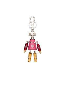 Trick Robot Giulietta Pink Leather Keychain Charm 1tr029