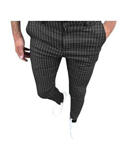 Stoota Mens Chinos Slim Fit Stretch Flat-Front Skinny Dress Pants Lightweight Pant