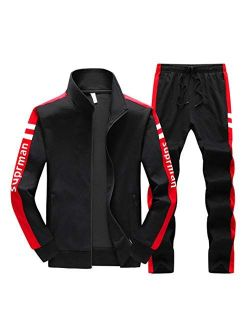 Real Spark Women's Jogging Tracksuit Casual Full Zip Running Sports Sweat Suit Set