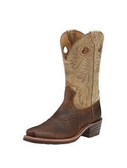 Heritage Roughstock Western Boot - Men's Square Toe Leather Work Boot
