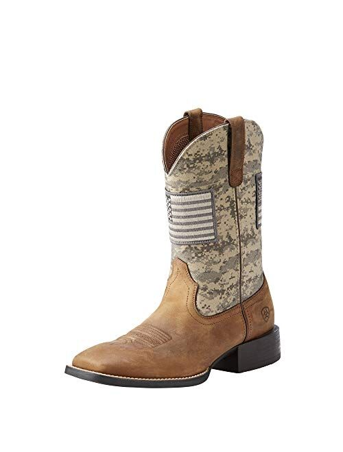 Ariat Sport Patriot Western Boot – Men's Leather, Square Toe Western Boots