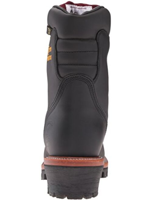 """Chippewa Men's 9"""" Waterproof Insulated Steel-Toe EH Logger Boot"""