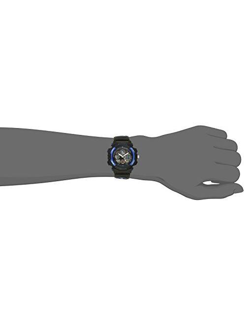 Pasnew Boys Girls Waterproof Sport Digital Watch Dual Time Display - Blue