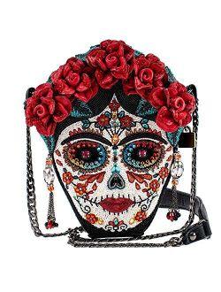Mary Frances La Catrina Beaded Crossbody Handbag